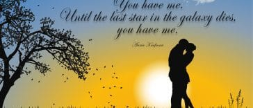Image for the article 30 Love Quotes for Him and Here