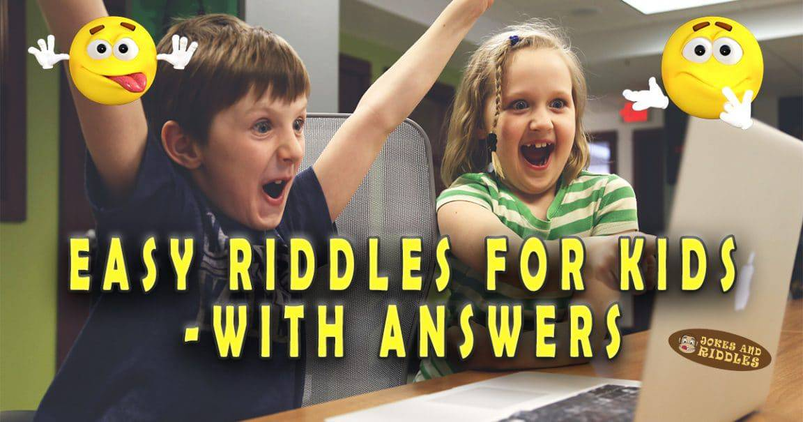 """Image to """"Easy riddles for kids with answers"""""""