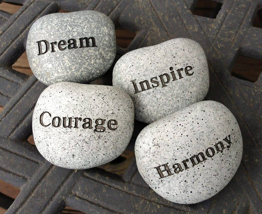 Dream, Courage, Inspire and Harmony