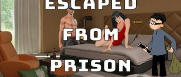 """Image to the joke """"Escaped from prison"""""""