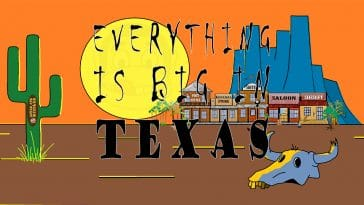 "Image to the joke ""Everything is big in Texas"""