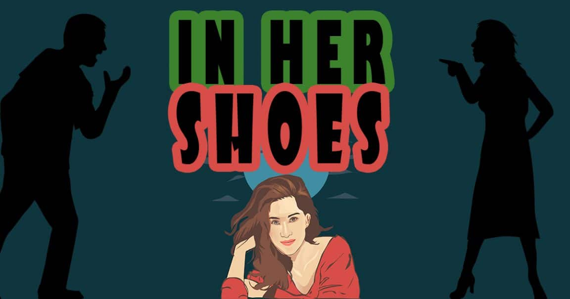 """Image for the joke """"In her shoes"""""""