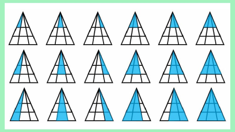 """Solution 1 to the riddle """"How many triangles do you see?"""""""