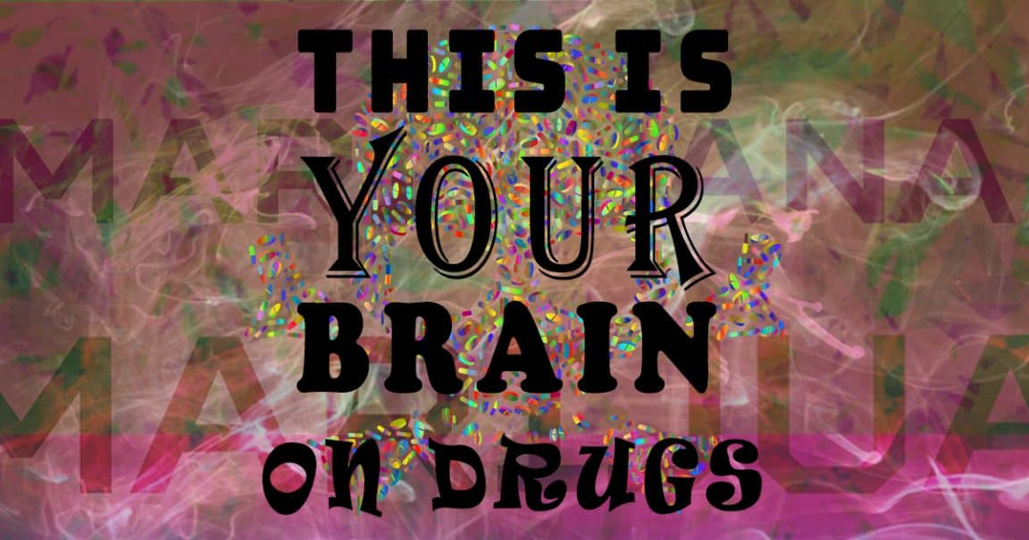 """Image to the joke """"This is your brain on drugs"""""""
