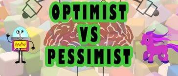 """Image to the joke """"optimist vs pessimist"""""""