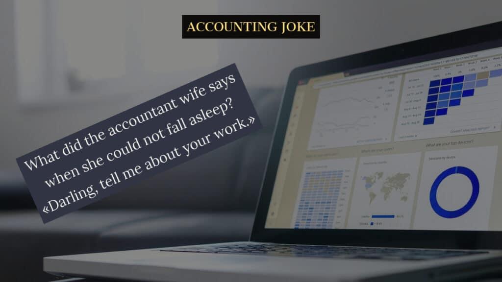 Image to The accountants wife joke