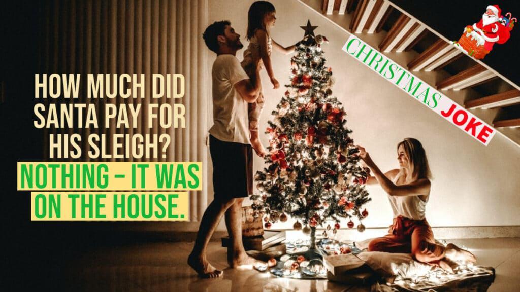 Christmas image - Santas Sleigh joke
