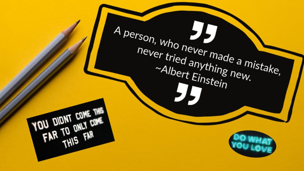 Creativity quote - A person, who never made a mistake, never tried anything new.