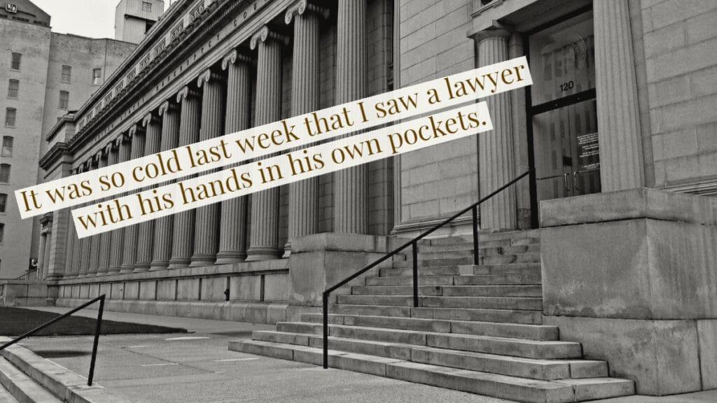 Lawyer Joke - Own Pocket