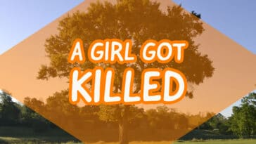 "Image to the riddle ""A girl got killed"""