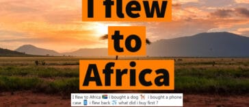 """The riddles """"I flew to Africa"""""""