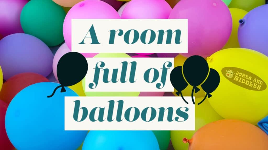 Office prank - a room full of balloons